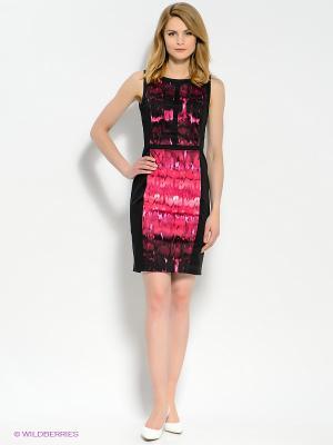 Платье MEXX. Цвет: черный, фуксия