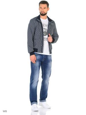 Куртка GEOX. Цвет: темно-синий, белый