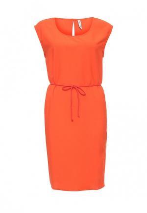 Платье BlendShe. Цвет: коралловый