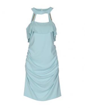 Короткое платье ANNARITA N.. Цвет: небесно-голубой