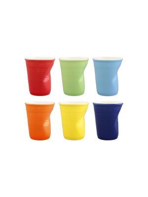 Стаканы Разноцветные мятые Elan Gallery. Цвет: красный, оранжевый, желтый, синий, салатовый, голубой