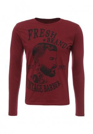 Лонгслив Fresh Brand. Цвет: бордовый