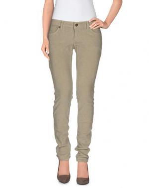 Повседневные брюки OTTOD'AME. Цвет: бежевый