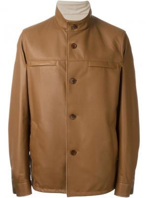 Двухсторонняя куртка на пуговицах Loro Piana. Цвет: коричневый