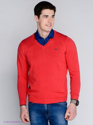Пуловер MILANO ITALY. Цвет: коралловый