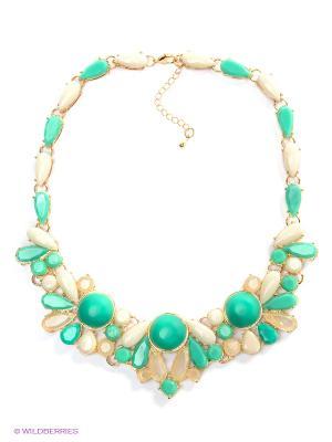 Колье Royal Diamond. Цвет: зеленый, бежевый