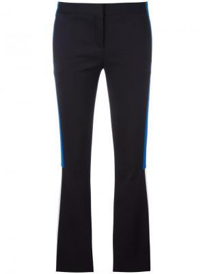 Расклешенные брюки с полосатой аппликацией Versace. Цвет: чёрный
