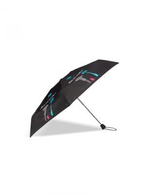 Зонт Isotoner. Цвет: черный, бирюзовый, серый, фуксия