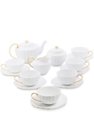 Чайный сервиз на 6 перс. Оро Палаццо (Pavone) Pavone. Цвет: белый