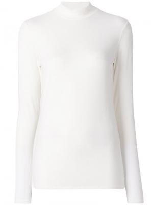 Классический приталенный свитер Closed. Цвет: белый