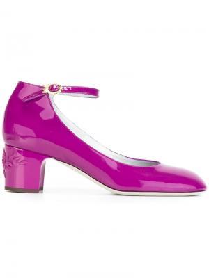 Туфли-лодочки Enola Rayne. Цвет: розовый и фиолетовый