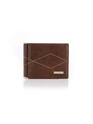 Зажим для денег, БОНД коричневый Domenico Morelli. Цвет: коричневый