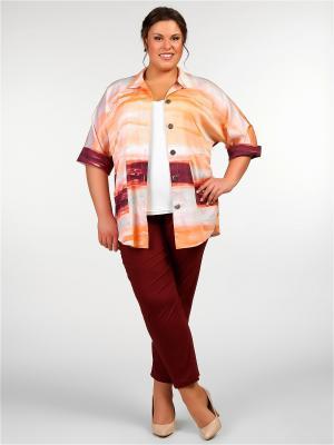 Блузка Silver-String. Цвет: светло-оранжевый