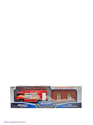Машина Scania fire station AUTOTIME. Цвет: красный, белый, коричневый