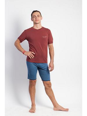 Футболка мужская Pro yogadress. Цвет: бордовый