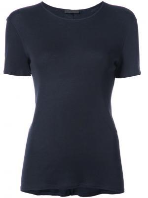 Round neck T-shirt The Row. Цвет: синий