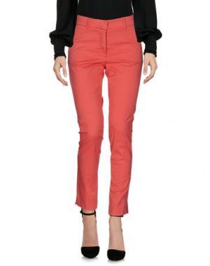 Повседневные брюки ROSSOPURO. Цвет: коралловый