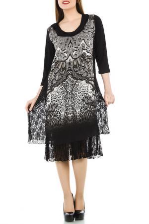 Платье LA MOUETTE. Цвет: black and white