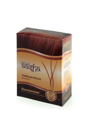 Краска для волос травяная Каштановая, 60 г Aasha Herbals. Цвет: темно-коричневый