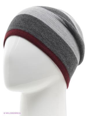 Шапка Trend. Цвет: серый, бордовый