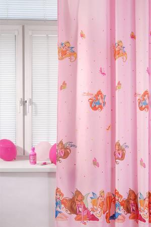Портьера детская 200х265 TAC. Цвет: розовый
