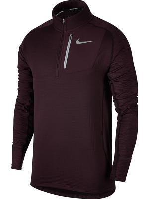 Джемпер M NK THRMA SPHR ELMNT TOP HZ Nike. Цвет: бордовый