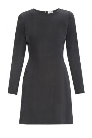 Замшевое платье 160193 Izeta. Цвет: серый