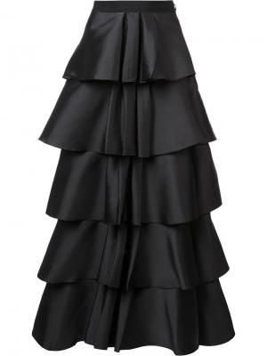 Ruffled layered skirt Sachin And Babi. Цвет: чёрный