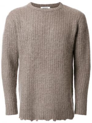 Узкий свитер в рубчик monkey time. Цвет: коричневый