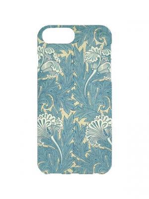 Чехол для iPhone 7Plus Голубая капуста Арт. 7Plus-242 Chocopony. Цвет: голубой