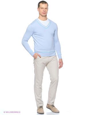 Джемпер MAER. Цвет: голубой, бежевый