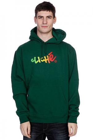 Кенгуру  Handwritten Gradient Pullover Dark Green/Rasta Cliche. Цвет: зеленый