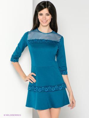 Платье SUGARLIFE. Цвет: морская волна