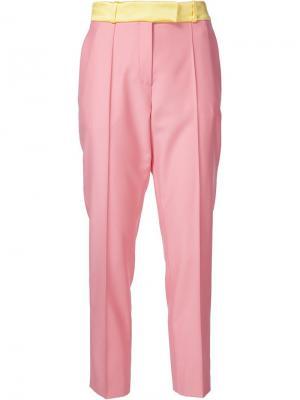Укороченные брюки Palm beach Racil. Цвет: розовый и фиолетовый