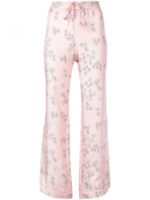 Пижамные брюки He Loves Me Not Macgraw. Цвет: розовый и фиолетовый