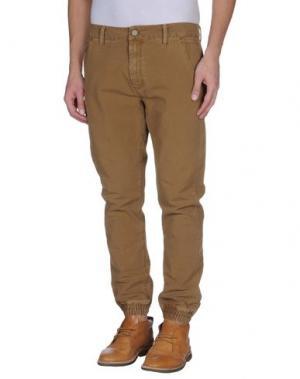 Повседневные брюки ROCK 'N' ROLL. Цвет: хаки