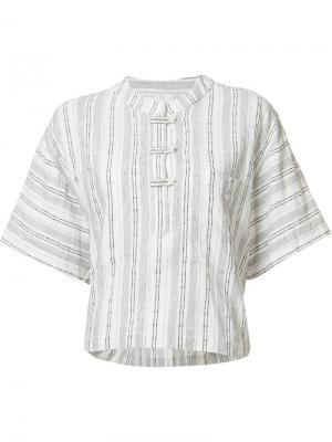 Укороченная футболка свободного кроя Derek Lam 10 Crosby. Цвет: белый
