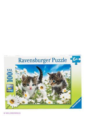 Пазл Котята в ромашках Ravensburger. Цвет: зеленый