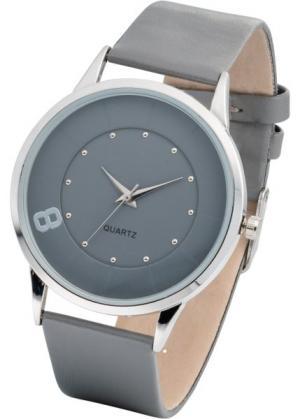 Часы наручные однотонные (серый/серебристый) bonprix. Цвет: серый/серебристый