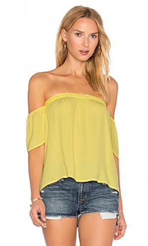 Топ с открытыми плечами BLQ BASIQ. Цвет: желтый