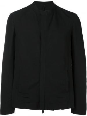 Укороченная куртка без воротника Tom Rebl. Цвет: чёрный