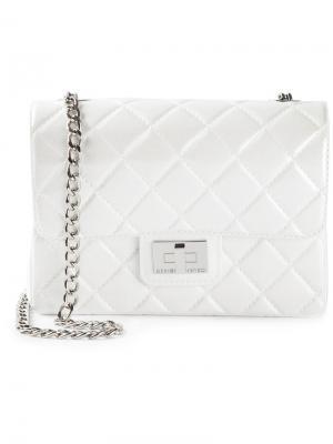 Маленькая сумка на плечо Designinverso. Цвет: белый