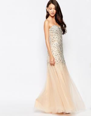 Key Collections Платье макси Ashley Roberts специально для. Цвет: телесный