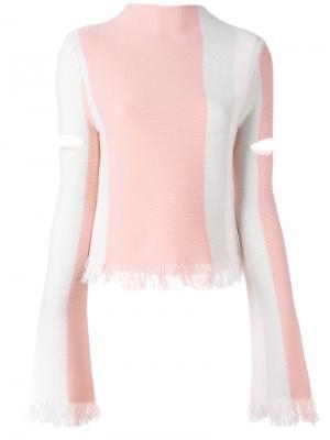 Полосатый джемпер с бахромой Laplace Zoe Jordan. Цвет: розовый и фиолетовый