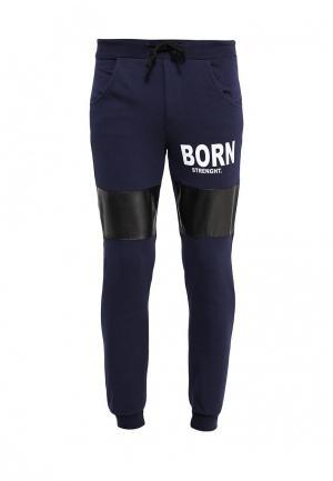 Брюки спортивные Massimiliano Bini. Цвет: синий