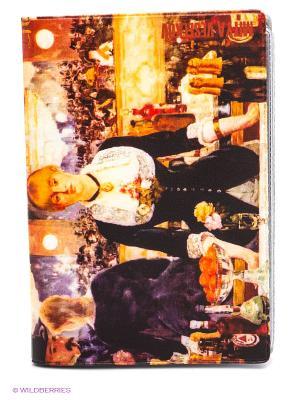 Обложка для автодокументов Эдуард Мане Бар в Фоли-Бержер Mitya Veselkov. Цвет: желтый, черный, фиолетовый