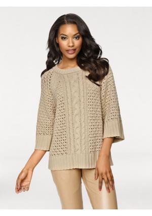 Пуловер PATRIZIA DINI. Цвет: серый, шоколадный