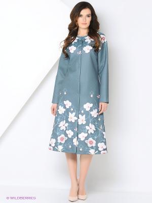Пальто Ksenia Knyazeva. Цвет: морская волна