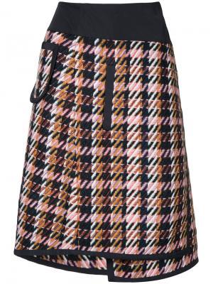 Многослойная юбка в клетку Shula Public School. Цвет: многоцветный