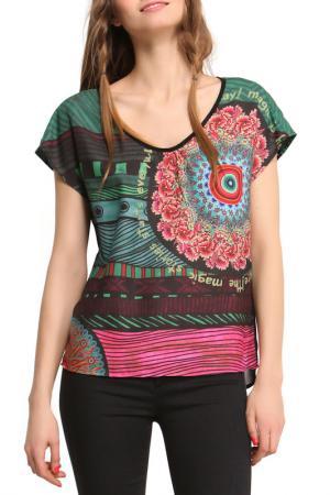 Блуза Desigual. Цвет: black, pink
